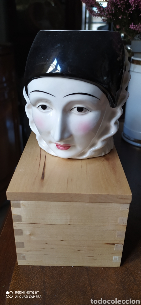 JARRA PERSONAJES JAPONESA (Antigüedades - Porcelana y Cerámica - Japón)