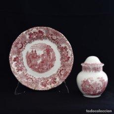Antigüedades: PRECIOSO CONJUNTO DE LA CARTUJA DE SEVILLA. Lote 222735151