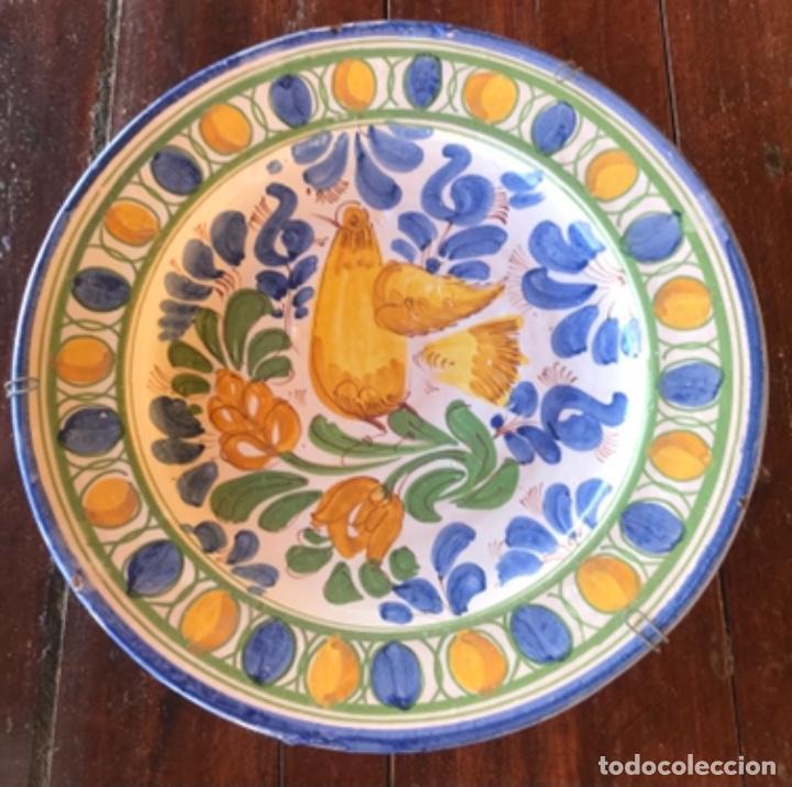 Antigüedades: Antiguo gran plato cerámica catalana 32,50cm diametro - Foto 2 - 222740078