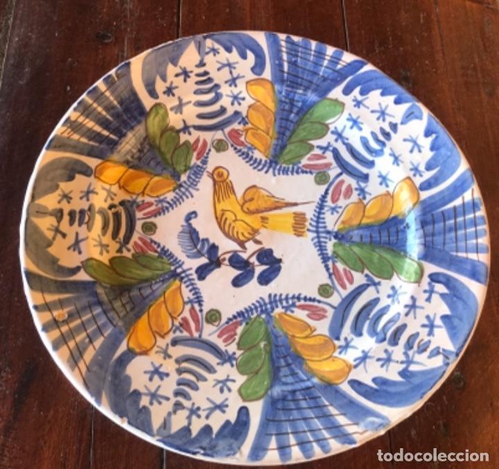 Antigüedades: Antiguo gran plato cerámica catalana 32 cm diámetro - Foto 2 - 222740802
