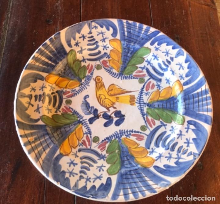 Antigüedades: Antiguo gran plato cerámica catalana 32 cm diámetro - Foto 3 - 222740802