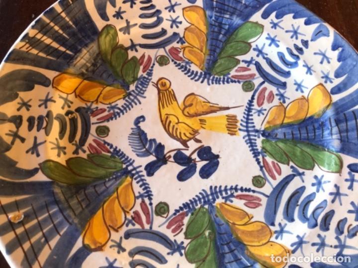 Antigüedades: Antiguo gran plato cerámica catalana 32 cm diámetro - Foto 4 - 222740802