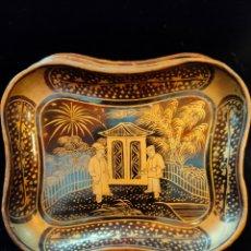 Antigüedades: SET DE BANDEJITAS CHINAS LACADAS. Lote 222742576