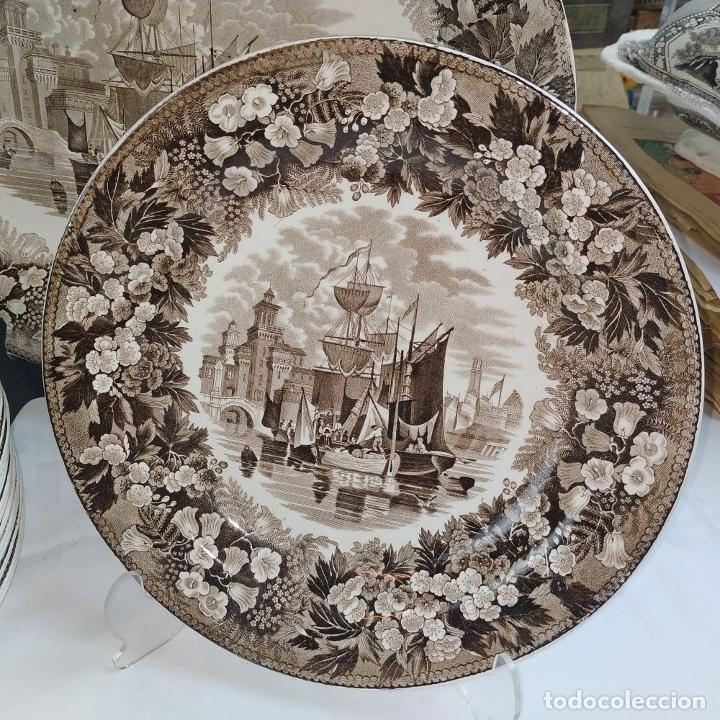 Antigüedades: GRAN VAJILLA WEDGWOOD SERIE FERRARA ORIGINAL. 96 PIEZAS. LOZA ESMALTADA. INGLATERRA. SIGLO XIX - Foto 11 - 222747488