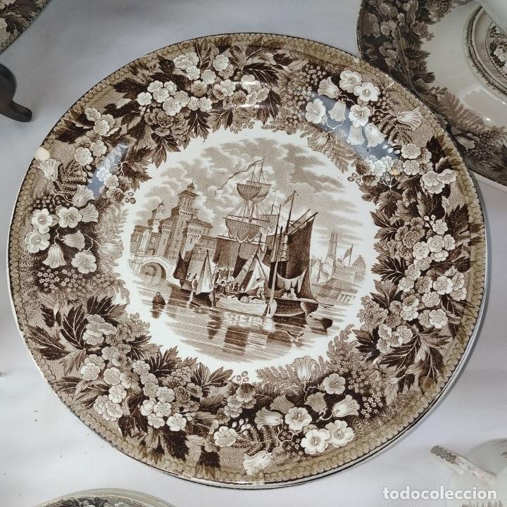 Antigüedades: GRAN VAJILLA WEDGWOOD SERIE FERRARA ORIGINAL. 96 PIEZAS. LOZA ESMALTADA. INGLATERRA. SIGLO XIX - Foto 18 - 222747488