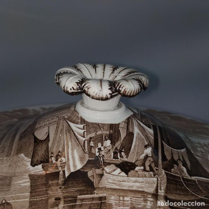Antigüedades: GRAN VAJILLA WEDGWOOD SERIE FERRARA ORIGINAL. 96 PIEZAS. LOZA ESMALTADA. INGLATERRA. SIGLO XIX - Foto 58 - 222747488