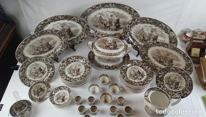 Antigüedades: GRAN VAJILLA WEDGWOOD SERIE FERRARA ORIGINAL. 96 PIEZAS. LOZA ESMALTADA. INGLATERRA. SIGLO XIX - Foto 67 - 222747488