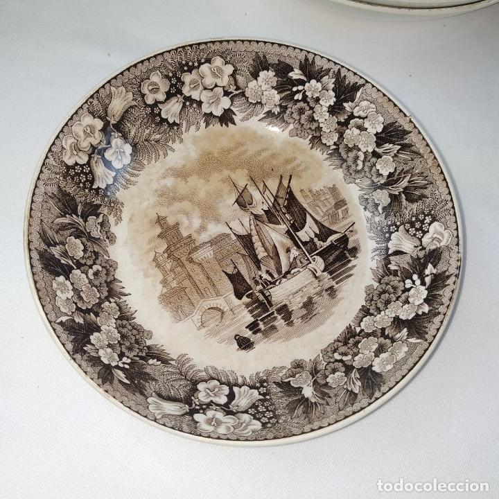 Antigüedades: GRAN VAJILLA WEDGWOOD SERIE FERRARA ORIGINAL. 96 PIEZAS. LOZA ESMALTADA. INGLATERRA. SIGLO XIX - Foto 88 - 222747488
