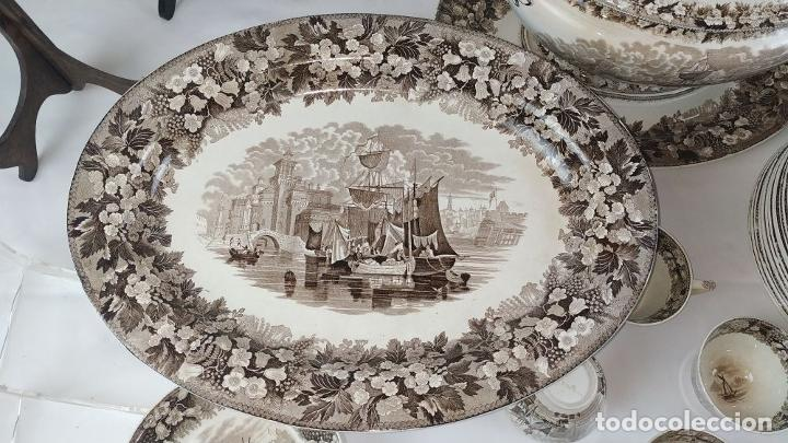 Antigüedades: GRAN VAJILLA WEDGWOOD SERIE FERRARA ORIGINAL. 96 PIEZAS. LOZA ESMALTADA. INGLATERRA. SIGLO XIX - Foto 91 - 222747488