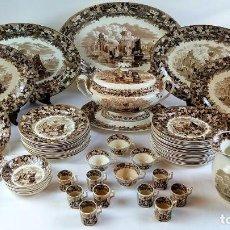 Antigüedades: GRAN VAJILLA WEDGWOOD SERIE FERRARA ORIGINAL. 96 PIEZAS. LOZA ESMALTADA. INGLATERRA. SIGLO XIX. Lote 222747488