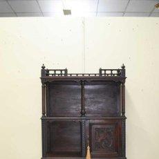 Antigüedades: MUEBLE ANTIGUO ESTANTERÍA DE CAOBA. Lote 222750822