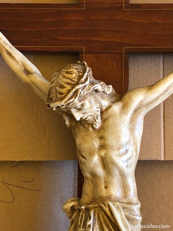 Antigüedades: Bonito Cristo de pared - Foto 2 - 222754088