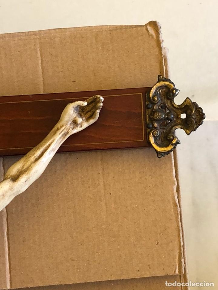 Antigüedades: Bonito Cristo de pared - Foto 5 - 222754088