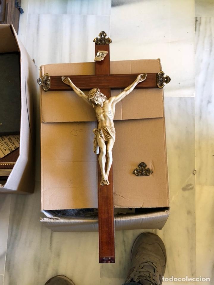 BONITO CRISTO DE PARED (Antigüedades - Religiosas - Crucifijos Antiguos)
