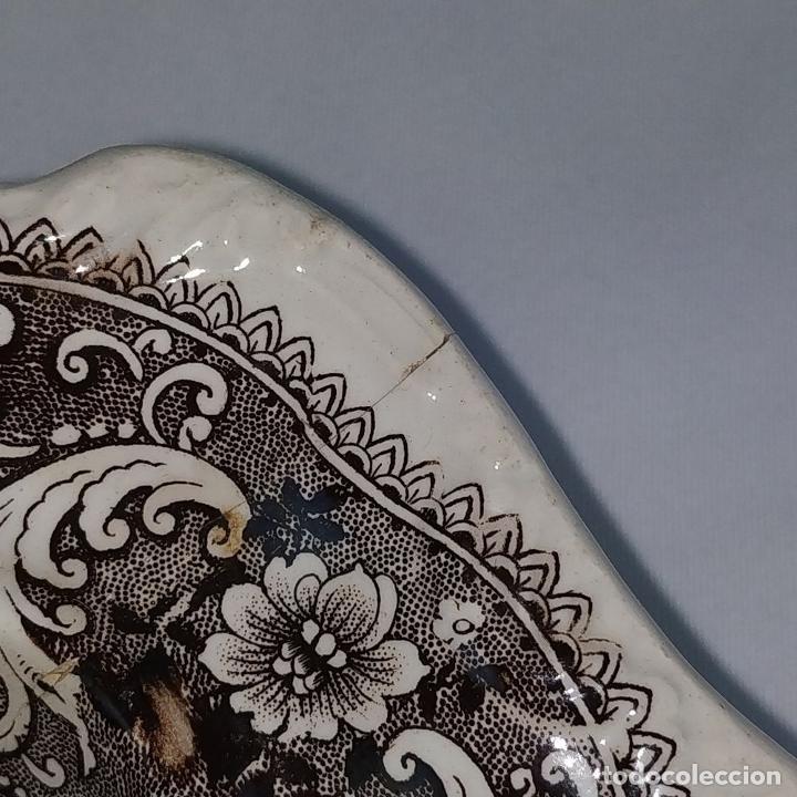Antigüedades: BANDEJA CON TAPA. LOZA ESMALTADA. MARCA INCISA ADAMS. STAFFORDSHIRE(?). INGLATERRA. XIX - Foto 9 - 222776766