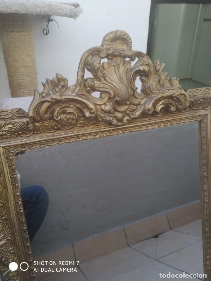 Antigüedades: Espejo Carlos IV 69×47 cm - Foto 2 - 222787408