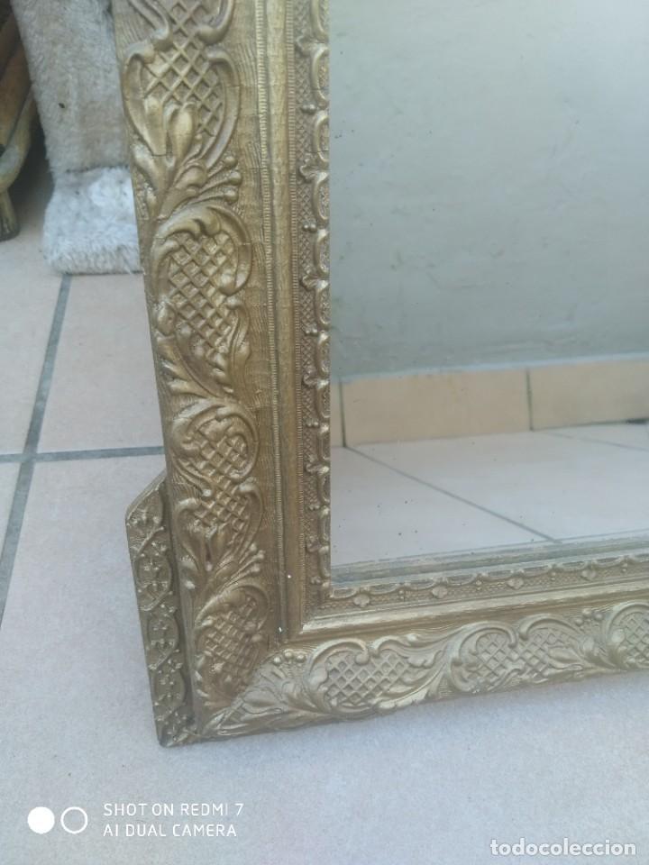 Antigüedades: Espejo Carlos IV 69×47 cm - Foto 3 - 222787408
