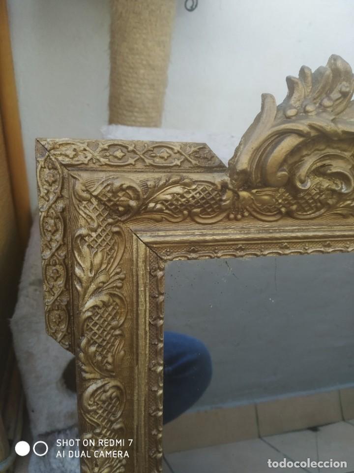 Antigüedades: Espejo Carlos IV 69×47 cm - Foto 5 - 222787408