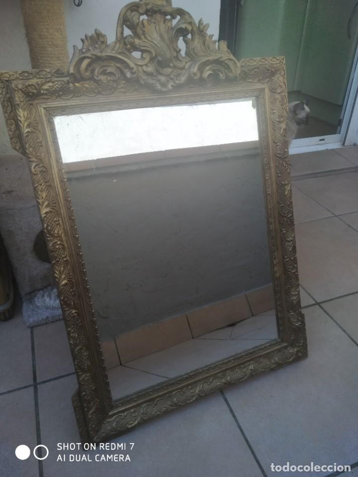 Antigüedades: Espejo Carlos IV 69×47 cm - Foto 8 - 222787408