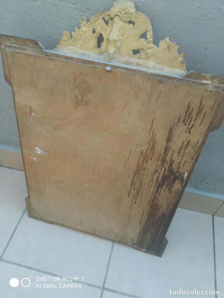 Antigüedades: Espejo Carlos IV 69×47 cm - Foto 9 - 222787408
