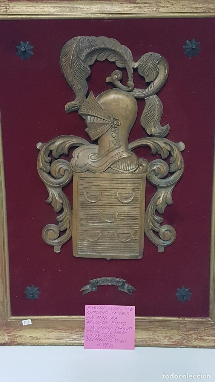 Antigüedades: Escudo heraldico Apellido Pinto - Foto 6 - 222788545