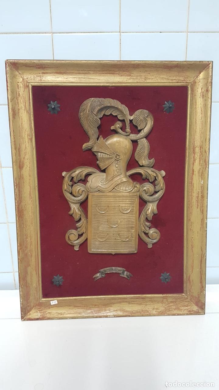 ESCUDO HERALDICO APELLIDO PINTO (Antigüedades - Varios)