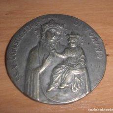 Antigüedades: MEDALLA, BROCHE SS. V. CONSOLATA DI TORINO POR LAVRILLIER. FIRMADA.. Lote 222789618