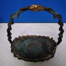 Antigüedades: ANTIGUO CANASTO DE BRONCE.. Lote 222789787