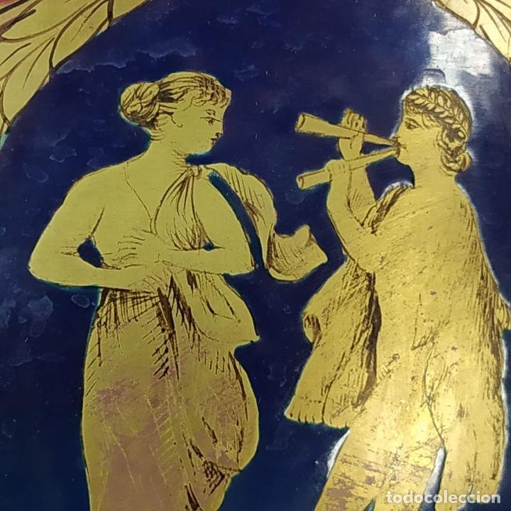 Antigüedades: GRAN CENTRO DE MESA. CRISTAL TALLADO Y ESMALTADO. PROBABLE PRODUCCIÓN BACCARAT. FRANCIA. XIX - Foto 9 - 222800668