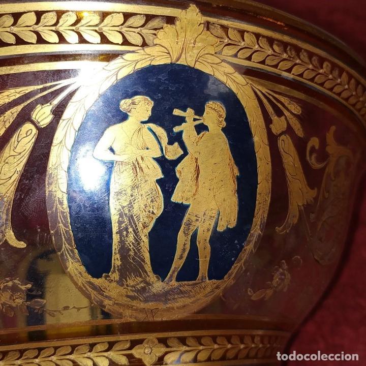 Antigüedades: GRAN CENTRO DE MESA. CRISTAL TALLADO Y ESMALTADO. PROBABLE PRODUCCIÓN BACCARAT. FRANCIA. XIX - Foto 13 - 222800668