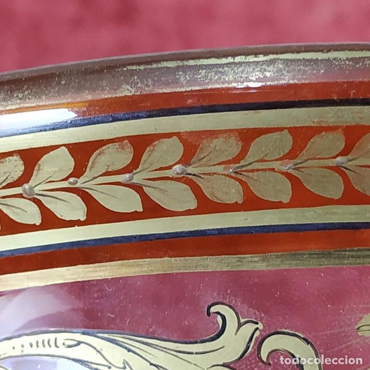 Antigüedades: GRAN CENTRO DE MESA. CRISTAL TALLADO Y ESMALTADO. PROBABLE PRODUCCIÓN BACCARAT. FRANCIA. XIX - Foto 14 - 222800668