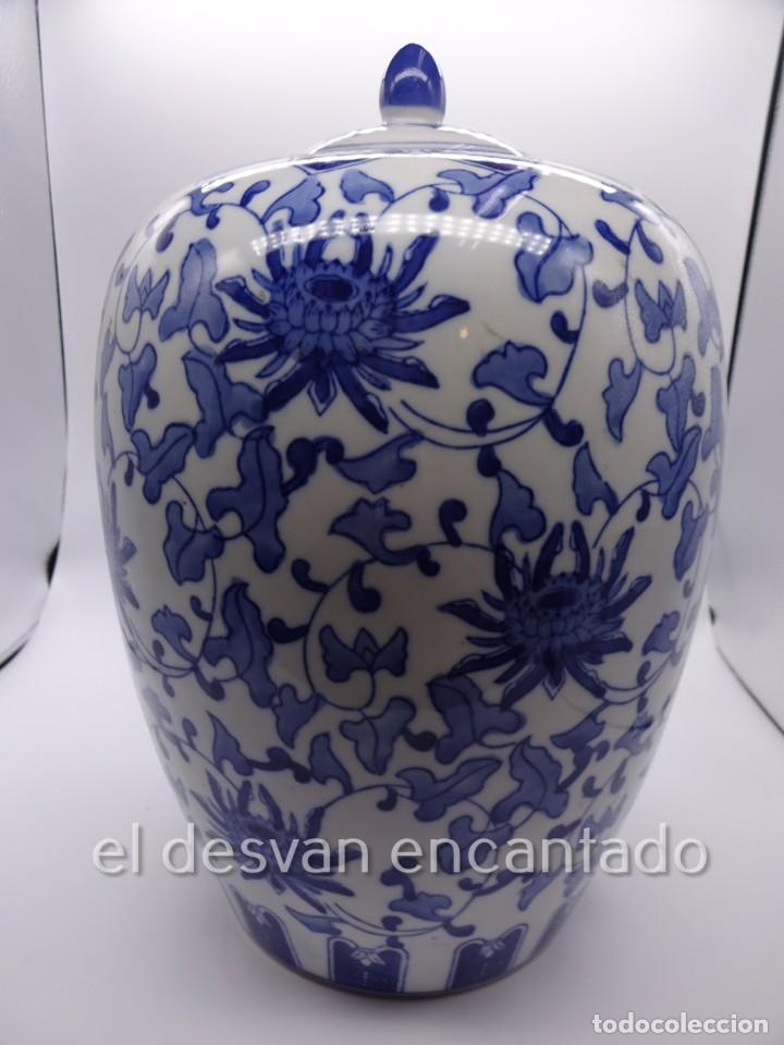 GRAN JARRON PORCELANA CHINA. PRIMERA MITAD SIGLO XX. 33 CTMS DE ALTURA (Antigüedades - Porcelanas y Cerámicas - China)