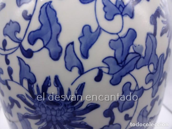 Antigüedades: Gran jarron porcelana china. Primera mitad siglo XX. 33 ctms de altura - Foto 3 - 222804780