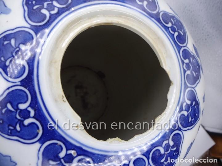 Antigüedades: Gran jarron porcelana china. Primera mitad siglo XX. 33 ctms de altura - Foto 6 - 222804780