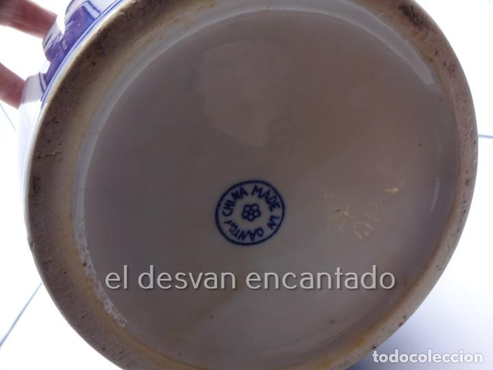 Antigüedades: Gran jarron porcelana china. Primera mitad siglo XX. 33 ctms de altura - Foto 8 - 222804780