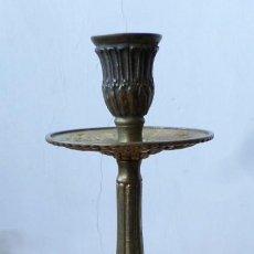 Antigüedades: CANDELABRO - LÁMPARA BRONCE LATÓN. Lote 222809517