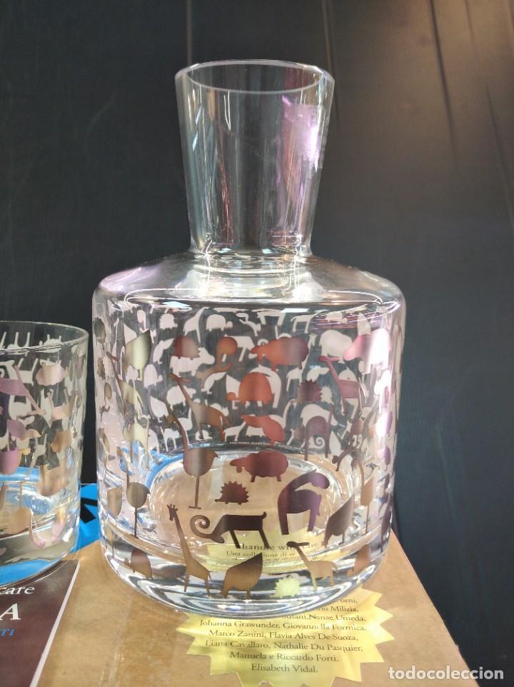 Antigüedades: Espectaculares conjunto licorera y vaso de la marca de lujo Egizia - Foto 2 - 222809596
