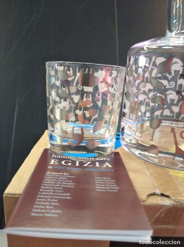 Antigüedades: Espectaculares conjunto licorera y vaso de la marca de lujo Egizia - Foto 3 - 222809596