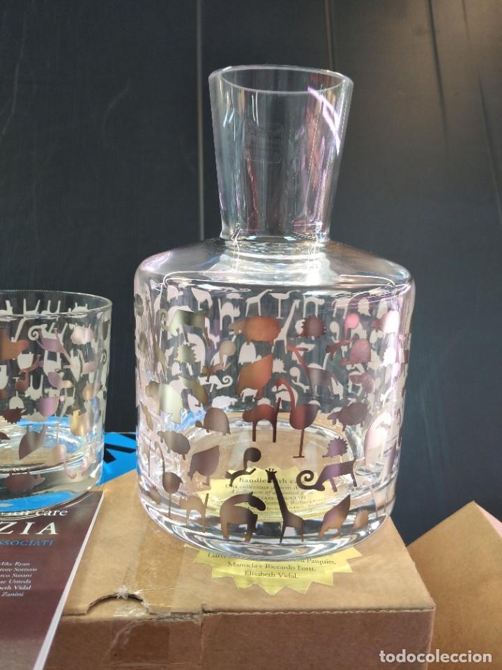 Antigüedades: Espectaculares conjunto licorera y vaso de la marca de lujo Egizia - Foto 5 - 222809596