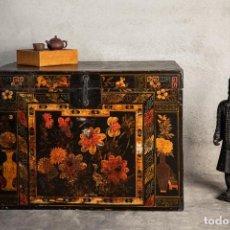 Antigüedades: BAÚL CHINO DE MADERA ANTIGUO DE ÓPERA TRADICIONAL CHINA (C.1860). Lote 222812072