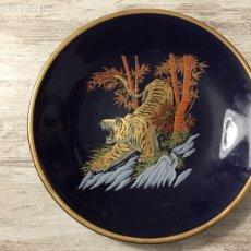 Antigüedades: PLATO PORCELANA SATSUMA JAPON TIGRE DORADO. Lote 222812757