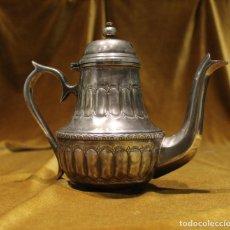 Antigüedades: TETERA DE ALPACA PLATEADA,MARCA SADF.. Lote 222814213