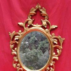 Antigüedades: CORNUCOPIA DE MADERA Y PAN DE ORO GRANDE. Lote 222817583