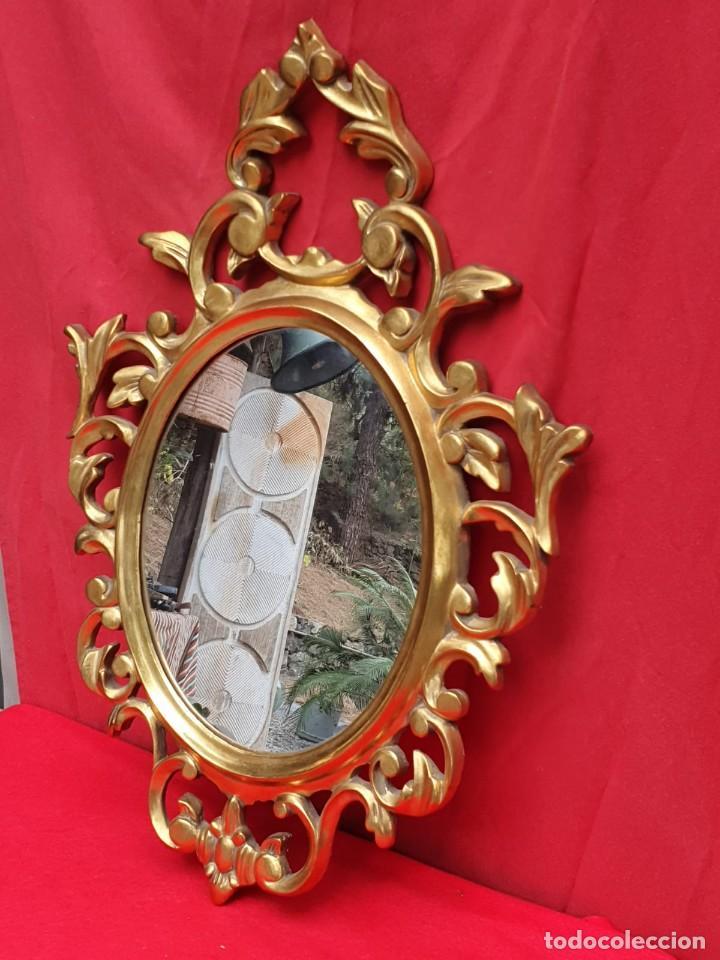 Antigüedades: Cornucopia de madera y pan de oro grande - Foto 2 - 222817583