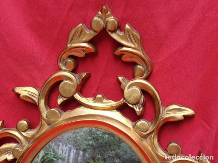 Antigüedades: Cornucopia de madera y pan de oro grande - Foto 3 - 222817583