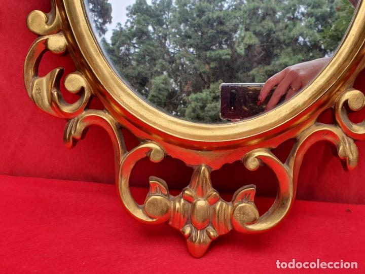 Antigüedades: Cornucopia de madera y pan de oro grande - Foto 4 - 222817583