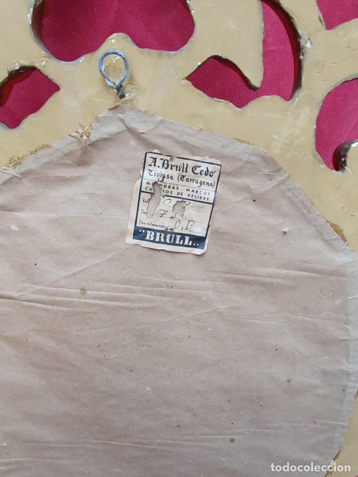 Antigüedades: Cornucopia de madera y pan de oro grande - Foto 5 - 222817583