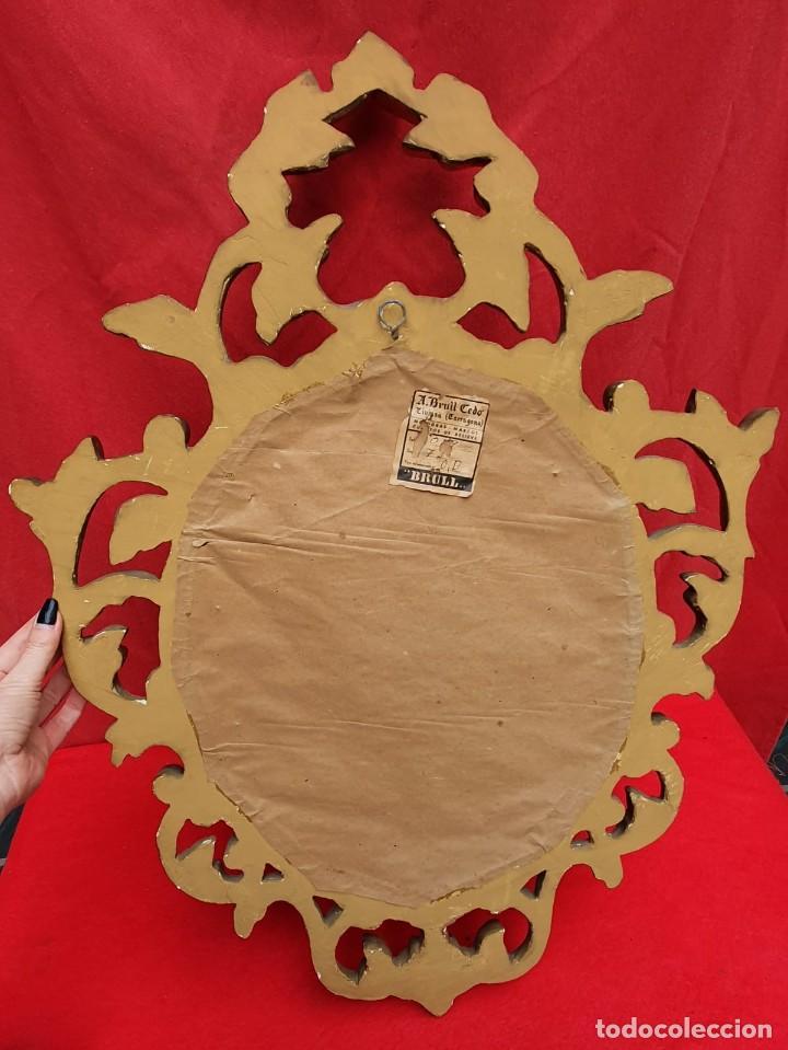 Antigüedades: Cornucopia de madera y pan de oro grande - Foto 6 - 222817583