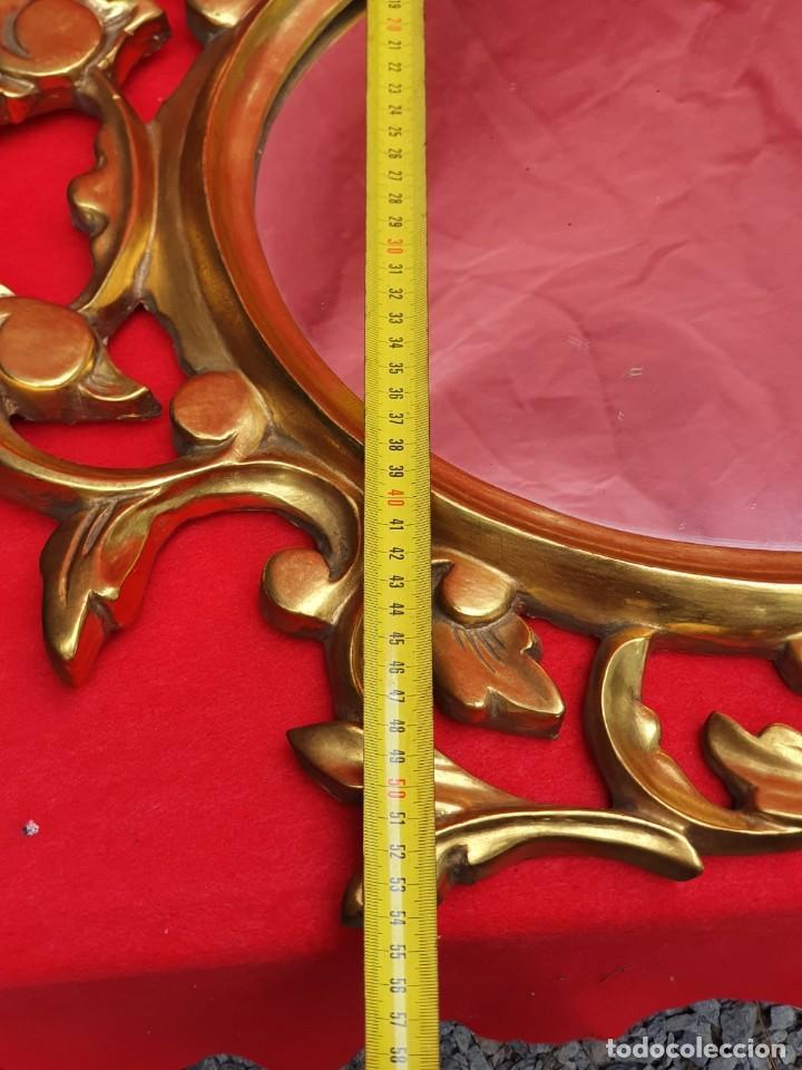 Antigüedades: Cornucopia de madera y pan de oro grande - Foto 8 - 222817583