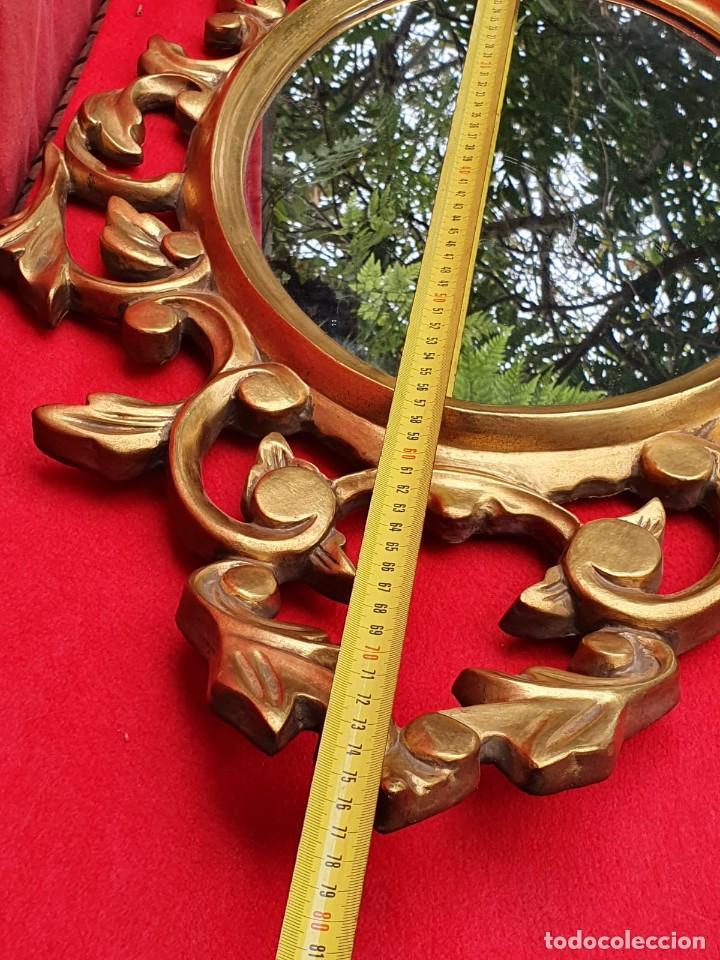 Antigüedades: Cornucopia de madera y pan de oro grande - Foto 9 - 222817583
